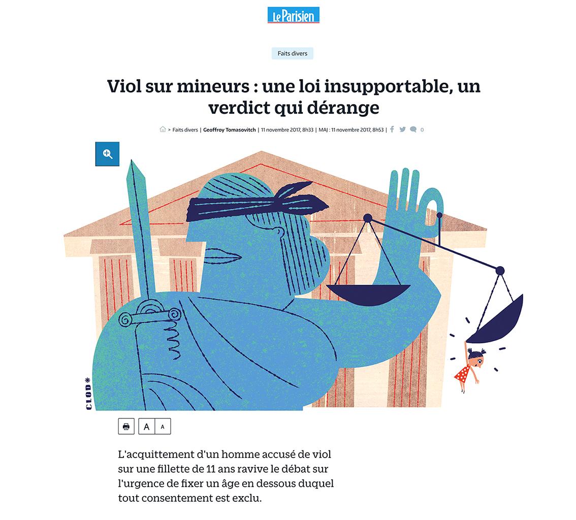 Clod illustration Le Parisien fait-divers