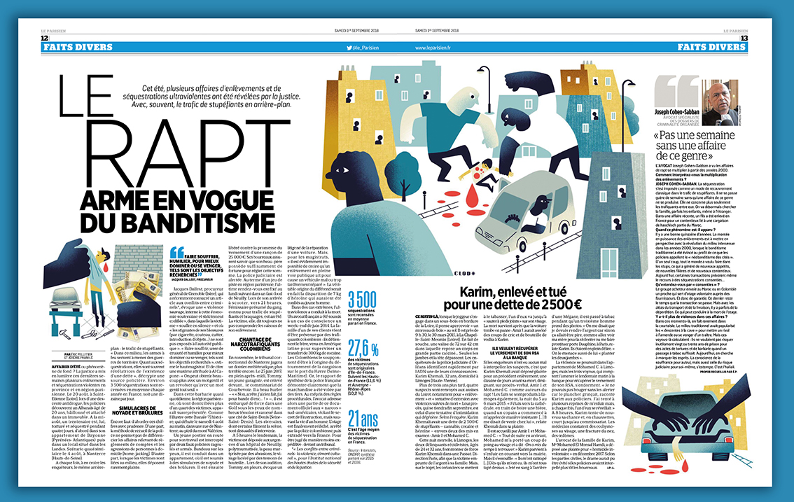 Clod illustration le Parisien rapt banditisme