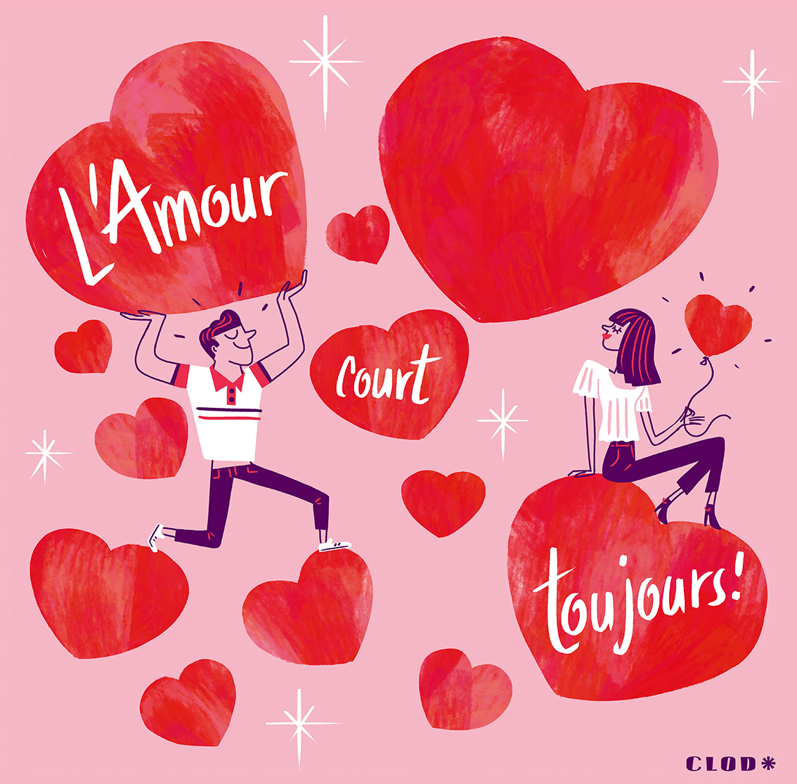 Clod illustration Saint-Valentin, il y a de l'Amour dans l'air