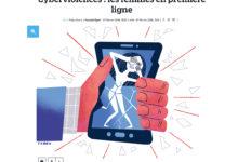 Clod illustration Le Parisien fait-divers cyberviolences faites aux femmes