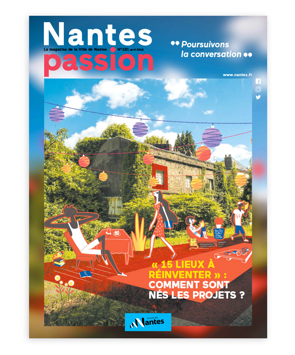 Clod illustration ville de Nantes magazine Nantes Passion 281