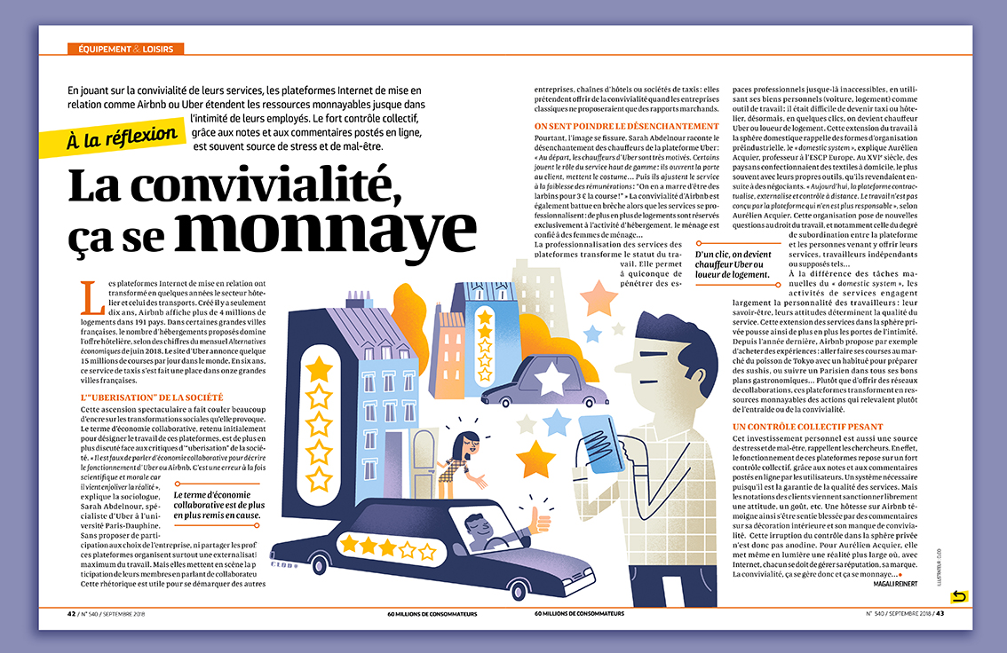 Clod illustration magazine 60 Millions de consommateurs notations