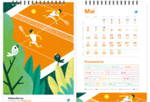 Clod illustration du mois de mai pour le calendrier 2019 de Twitter France