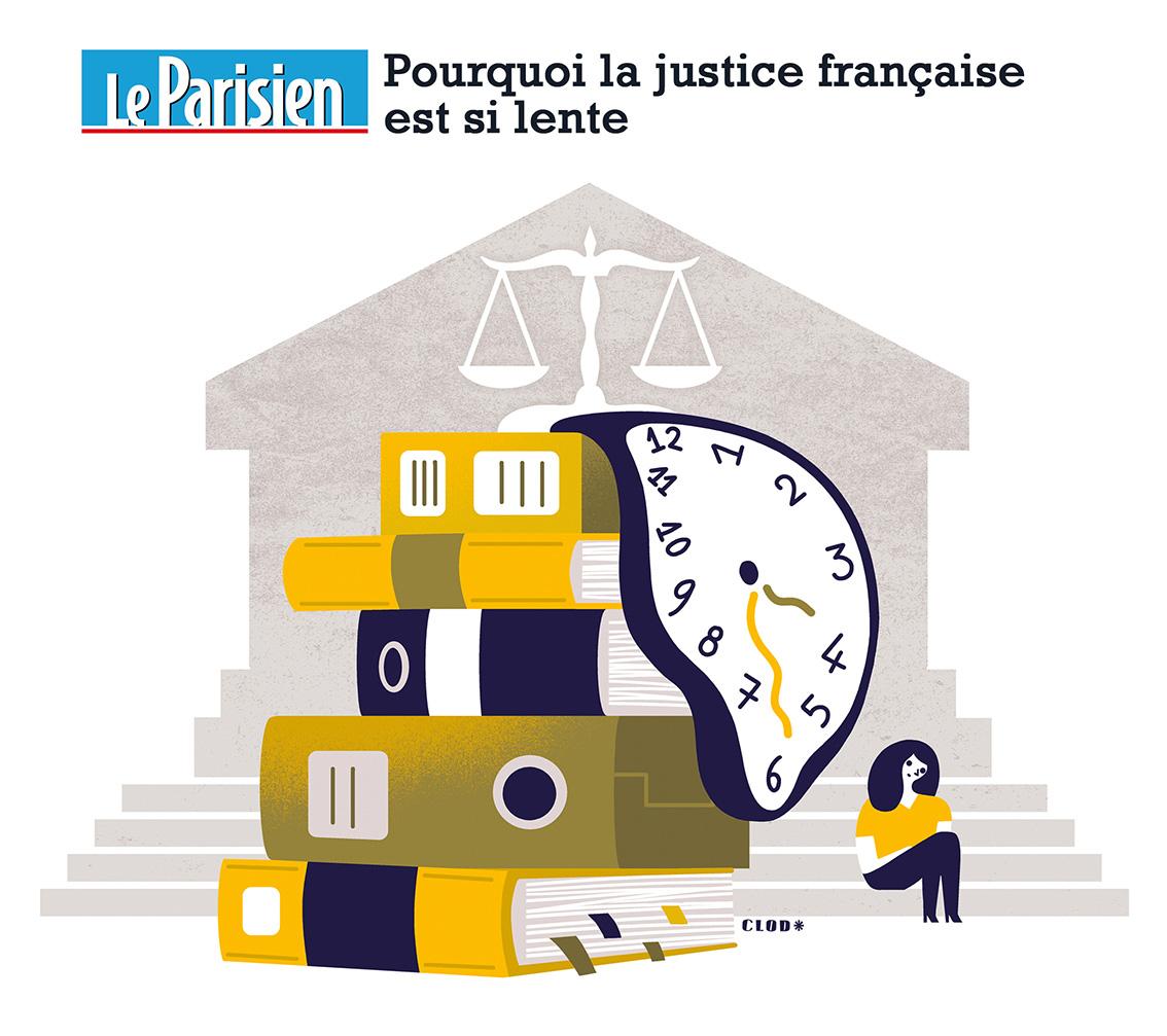 Clod illustration Le Parisien fait-divers lenteur de la justice