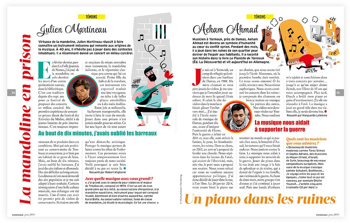 Clod illustration fête de la musique 2019 magazine Panorama