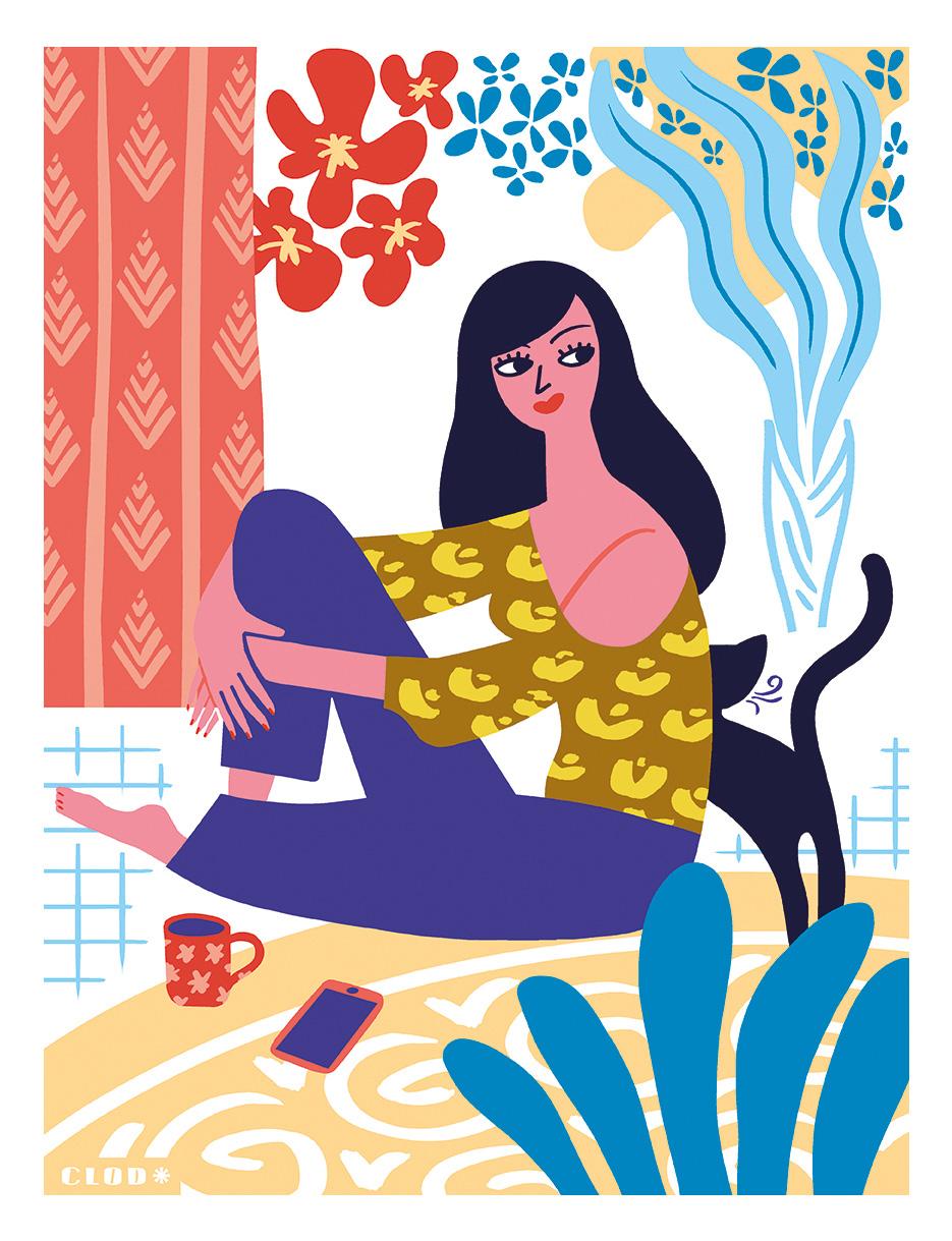 Clod illustration inspirée de Matisse