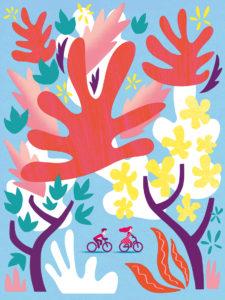 Tirage d'art les petits vélos de Clod - vélo chez Matisse