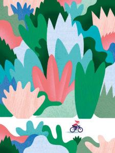 Tirage d'art les petits vélos de Clod - vélo dans la nature