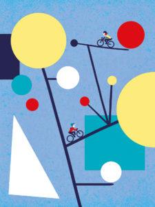 Tirage d'art les petits vélos de Clod - vélo chez Arp