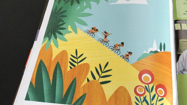 Clod illustration Les petits vélos de Clod pour le magazine panorama