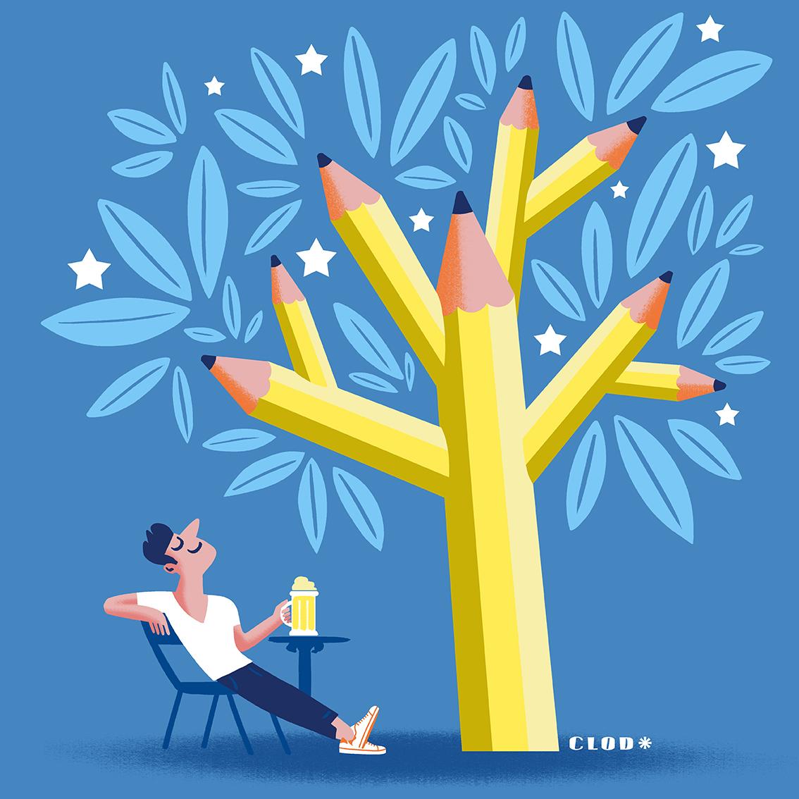 Clod blog Petites cogitations sur le parcours d'un illustrateur