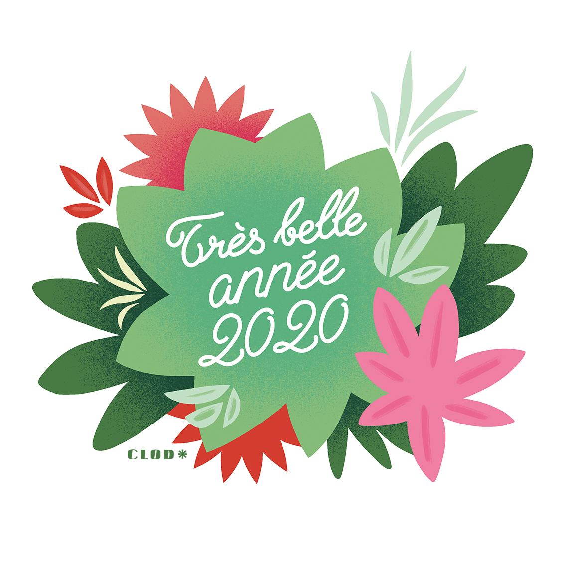 Vœux 2020 de Clod illustrateur