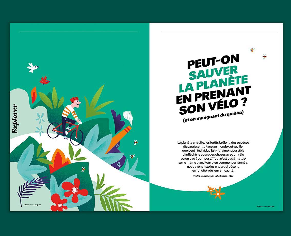 Clod illustration pour le magazine La Croix, L'Hebdo