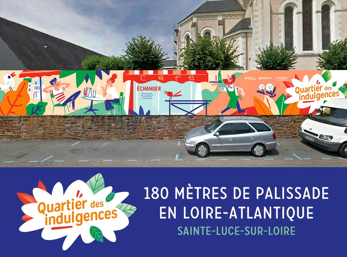 Illustration palissade chantiers à Sainte-Luce-sur-Loire en Loire-Atlantique