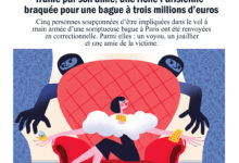 Clod illustration Le Parisien article Diamant, braquage et trahison