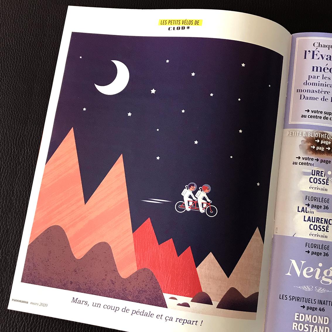 Illustration pour le magazine Panorama