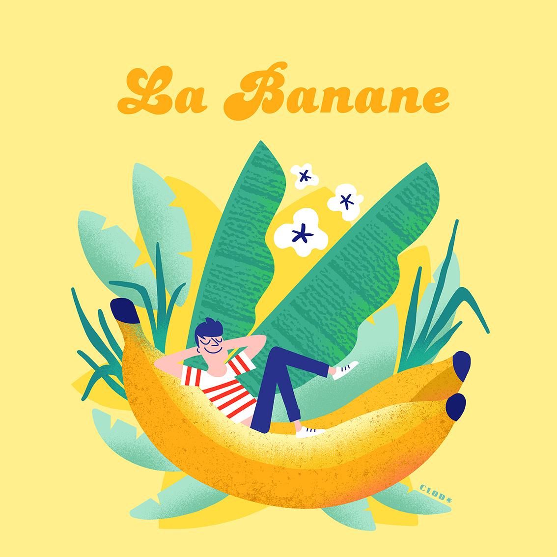 Clod illustration, la banane