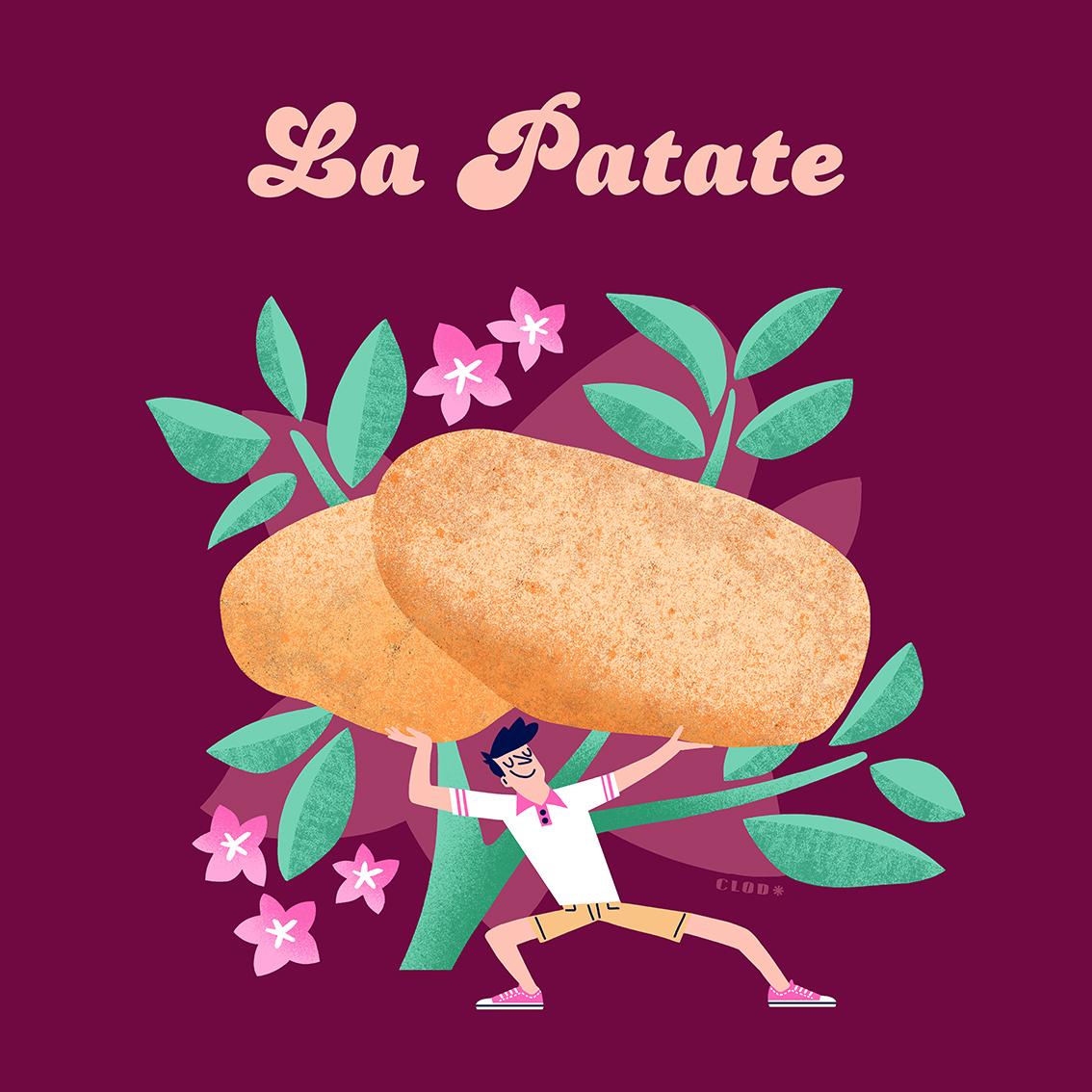 Clod illustration la patate