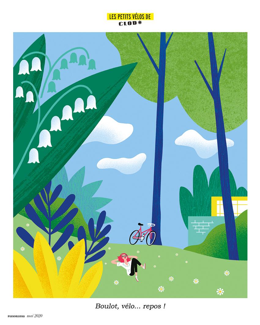 Les Petits Vélos de Clod pour le magazine Panorama