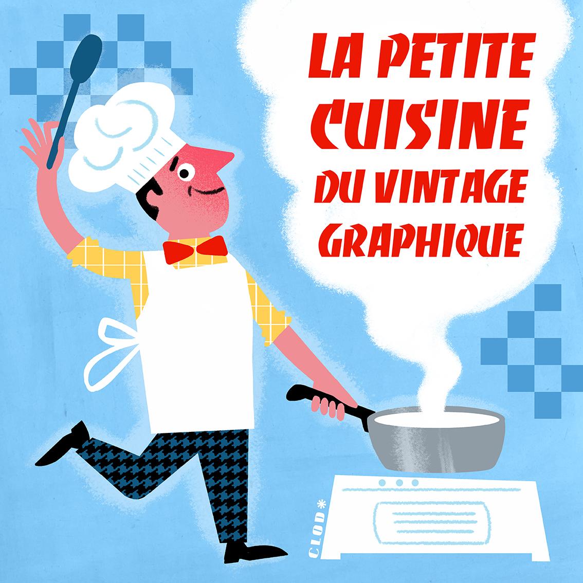 L'illustrateur de l'intérieur : la petite cuisine du vintage graphique