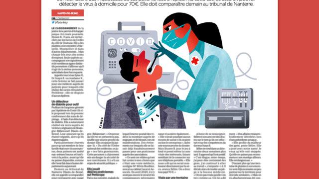 Clod illustration Le Parisien du 20 janvier 2021 fausse médecin Covid