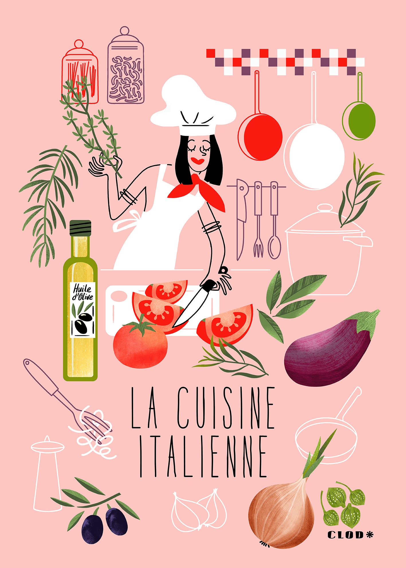 Clod illustration la cuisine italienne