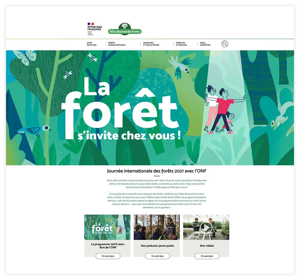 Clod illustration Journée Internationale des Forêts pour l'ONF