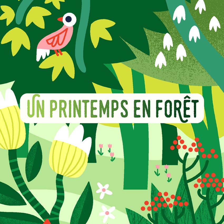 Clod illustration ONF un printemps en forêt