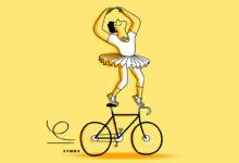 Clod illustration expressions sur le vélo