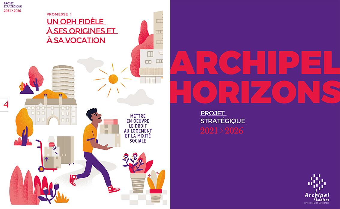 Clod illustration Projet Stratégique OPH Archipel Habitatt Rennes