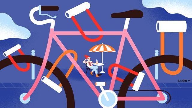 Clod illustration Ouest-France vols de vélos