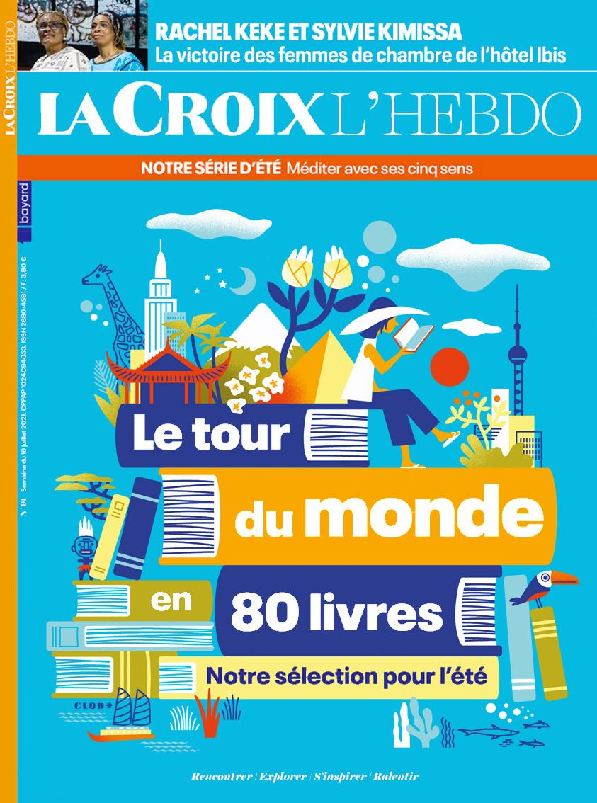 Clod illustration magazine La Croix l'Hebdo : le tour du monde en 80 livres