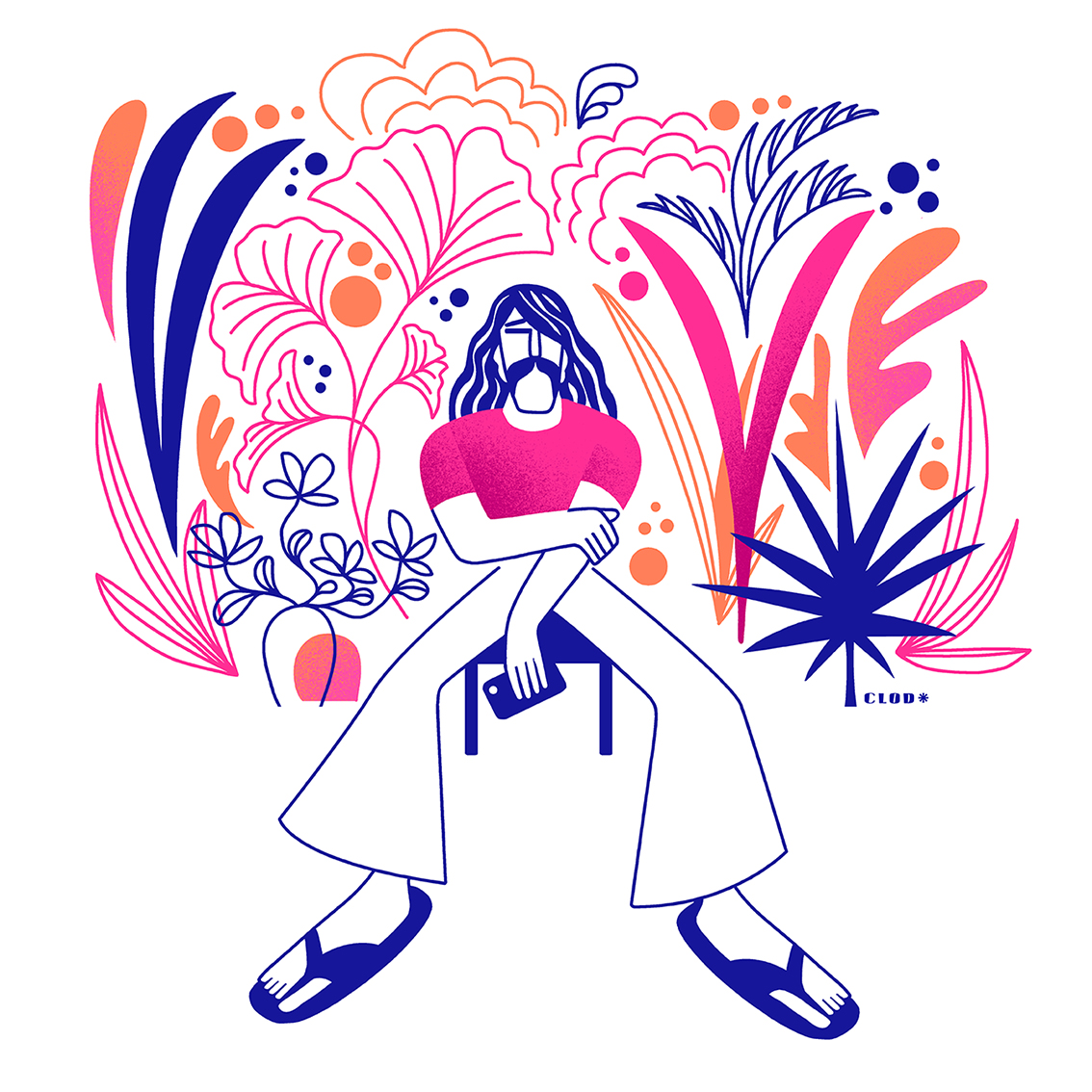 Clod illustration Seventies