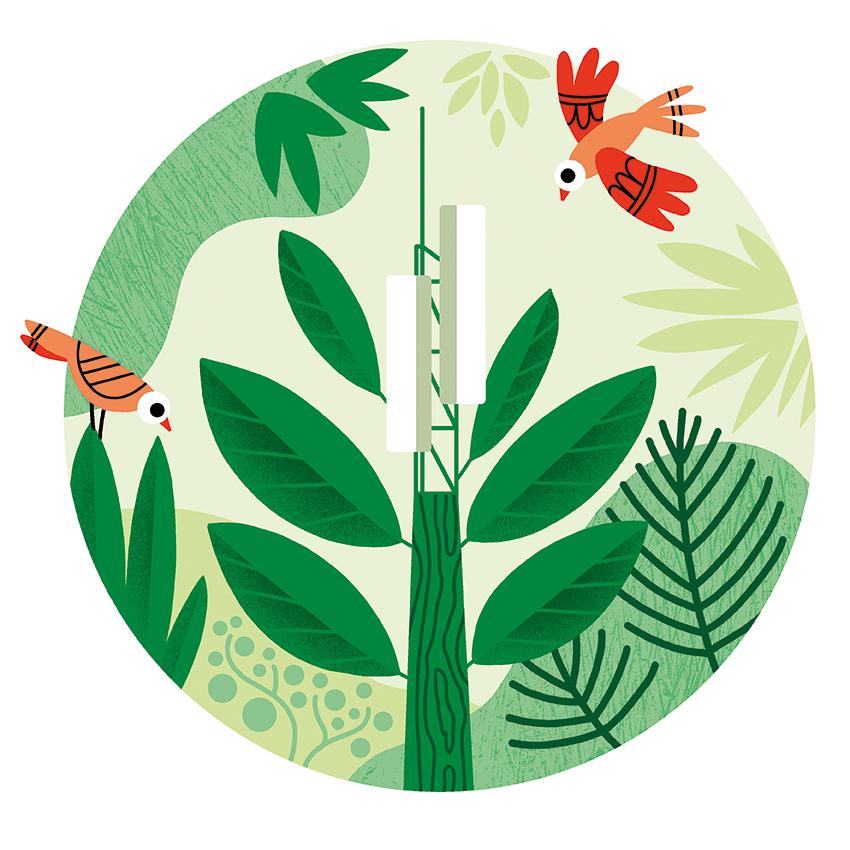 Clod illustration pour le magazine Parcs (Parcs Naturels Régionaux de France)